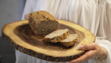 Photo of Pasta z kaszy gryczanej z kurkumą i chlebek gryczany na zakwasie.