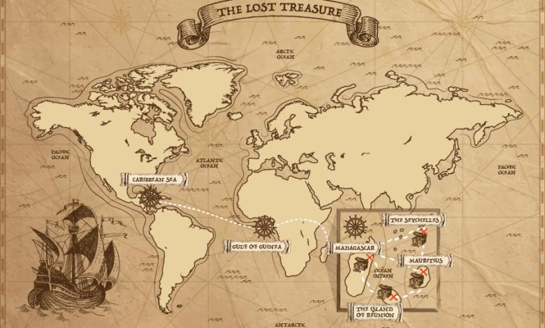 mapa piratów