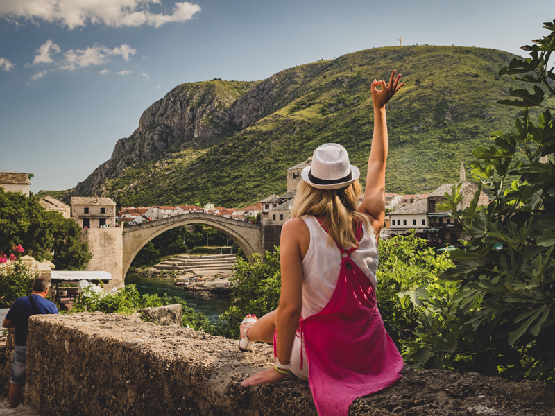 Old bridge in Mostar Stary most w Mostarze