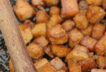 wegańskie skwarki z tofu